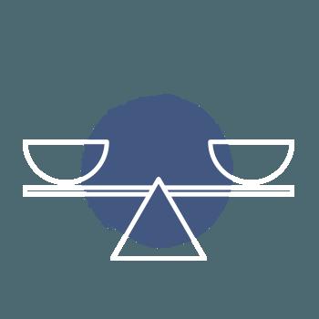 Icon Waage – Schritt zum Erfolg – Balance wieder herstellen
