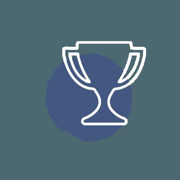 Icon Trophäe – Schritt zum Erfolg